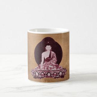 Vintage del Grunge de Shakyamuni Buda Taza