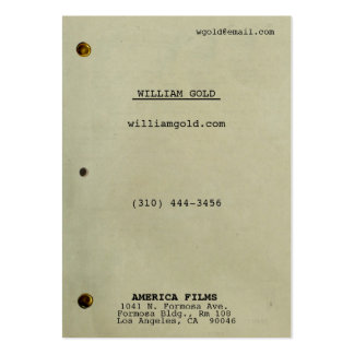 Vintage del guión ancho tarjetas de visita