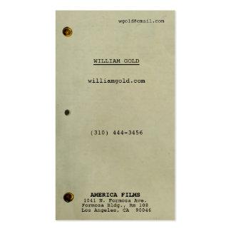 Vintage del guión plantillas de tarjeta de negocio