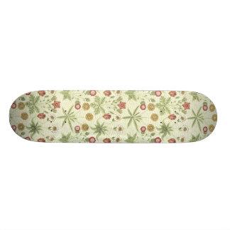 Vintage del jardín del país floral tabla de patinar