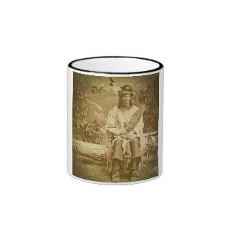 Vintage del jefe indio de Siux del oso de la medic Taza A Dos Colores