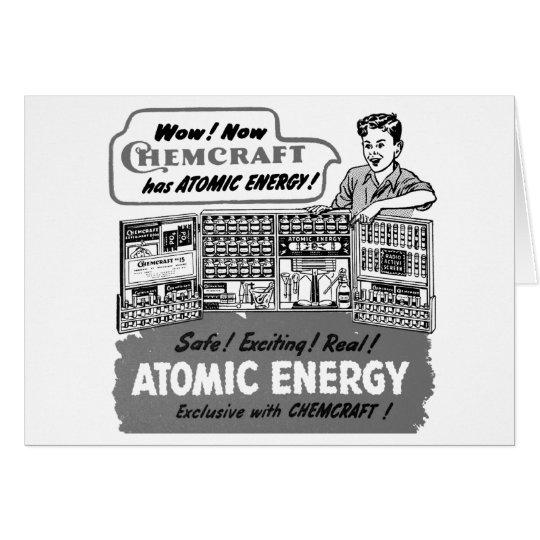 Vintage del kitsch con el sistema de la química de tarjeta de felicitación