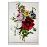 Vintage del KRW la tarjeta del ramillete de flores