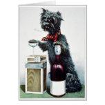 Vintage del KRW una tarjeta alegre del perro 1878