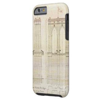 Vintage del modelo de la arquitectura del puente funda para iPhone 6 tough