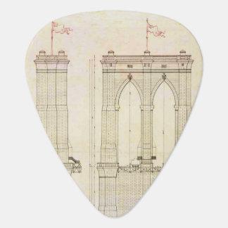 Vintage del modelo de la arquitectura del puente plumilla de guitarra