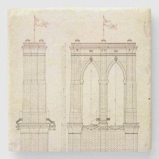 Vintage del modelo de la arquitectura del puente posavasos de piedra