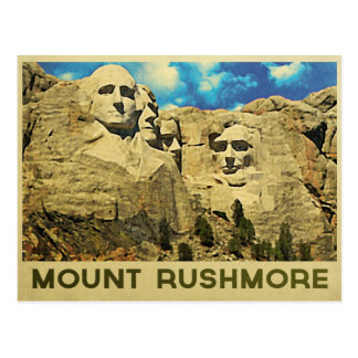 Vintage del monte Rushmore Postales