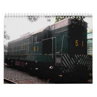 Vintage del museo ferroviario del Tai po Hong Kong Calendario