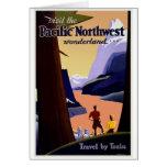 Vintage del noroeste pacífico de la visita felicitaciones