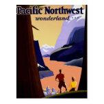 Vintage del noroeste pacífico de la visita postales