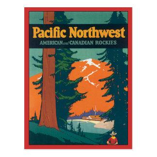 Vintage del noroeste pacífico tarjeta postal