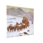 Vintage del oeste, porqué el correo era atrasado impresión en lienzo