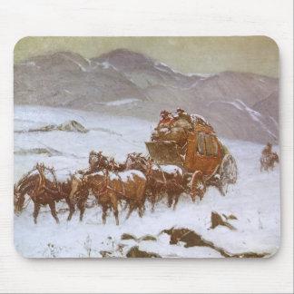 Vintage del oeste, porqué el correo era atrasado tapete de ratón
