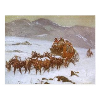 Vintage del oeste, porqué el correo era atrasado tarjetas postales