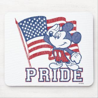 Vintage del orgullo de Disney Mickey Tapetes De Ratón