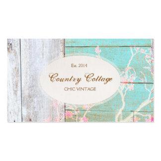 Vintage del país, boutique elegante de madera tarjetas de visita