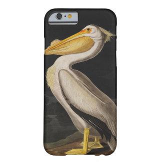 Vintage del pájaro del pelícano blanco de Audubon Funda Para iPhone 6 Barely There