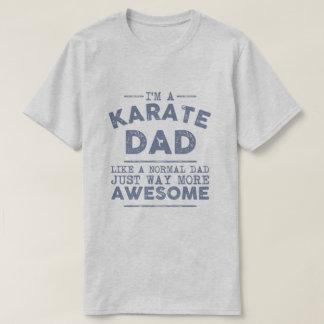 Vintage del papá del karate (azul) playera