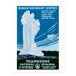 Vintage del parque nacional de Yellowstone Tarjeta Postal