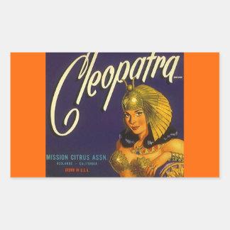 Vintage del pegatina que hace publicidad de la