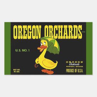 Vintage del pegatina que hace publicidad del pato