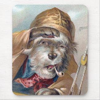 Vintage del perro de mar viejo ganador del TBA Tapete De Ratón