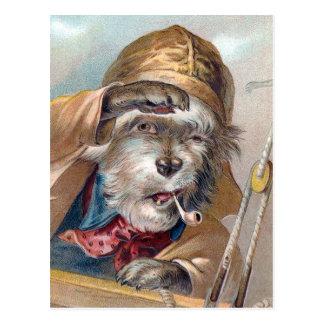 """Vintage """"del perro de mar viejo"""" tarjeta postal"""