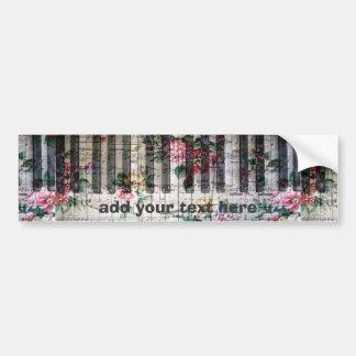 vintage del piano de la música floral pegatina para auto