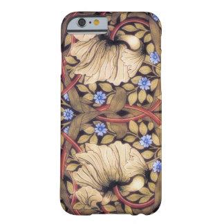 Vintage del Pimpernel de William Morris floral Funda De iPhone 6 Barely There