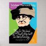 Vintage del poster del Memorial Day de los trabaja