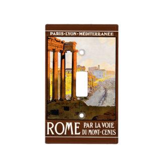 Vintage del poster del viaje de Roma Cubiertas Para Interruptor