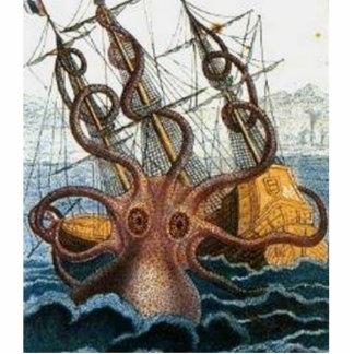 Vintage del pulpo de Kraken Steampunk Escultura Fotografica