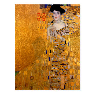 """Vintage del retrato de Gustavo Klimt """"Adela"""" Tarjeta Postal"""