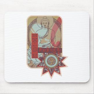 Vintage del ronquido de OM Mani Padme Tapete De Ratón