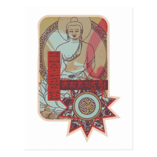 Vintage del ronquido de OM Mani Padme Tarjeta Postal