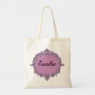 Vintage del rosa del favor del boda de la novia o bolsas de mano