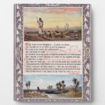 Vintage del salmo 23 placas con foto