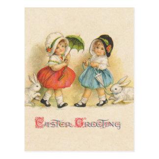 Vintage del saludo de Pascua Postal