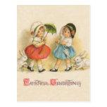 Vintage del saludo de Pascua Tarjetas Postales
