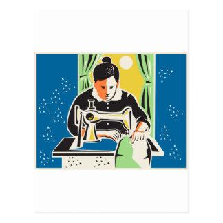 Vintage del sastre de la modista de la costurera tarjeta postal