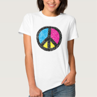 Vintage del signo de la paz remera