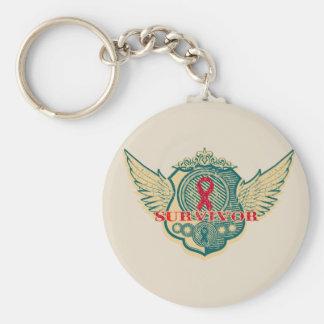 Vintage del superviviente del cáncer de sangre con llavero redondo tipo pin