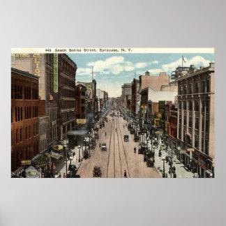 Vintage del sur 1917 del St Syracuse NY de la sali Posters