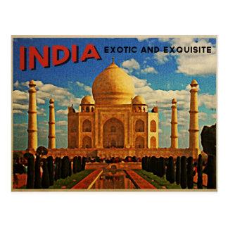 Vintage del Taj Mahal la India Tarjetas Postales