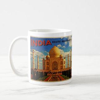 Vintage del Taj Mahal la India Taza