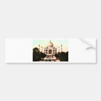 Vintage del Taj Mahal Pegatina Para Auto