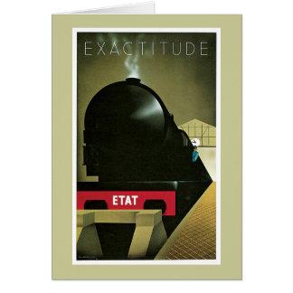 Vintage del tren de ferrocarril de la exactitud tarjeta de felicitación