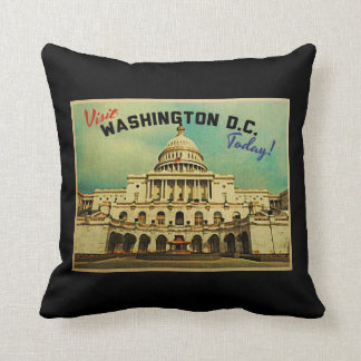 Vintage del Washington DC Cojín