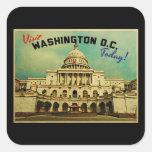 Vintage del Washington DC Pegatina Cuadradas Personalizadas